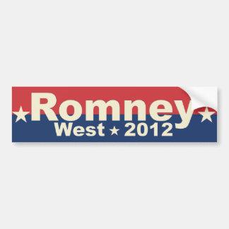 Romney West - Mitt Romney President 2012 Bumper Sticker