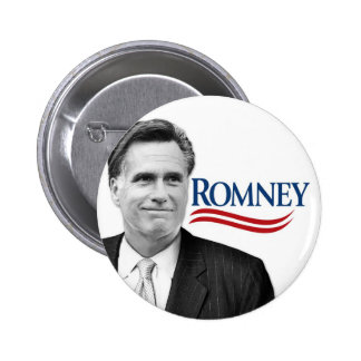 Romney with black and white photo 6 cm round badge