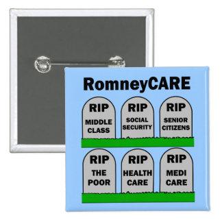 RomneyCARE 15 Cm Square Badge