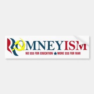 Romneyism / Socialism, Anti-Romney Bumper Sticker Car Bumper Sticker