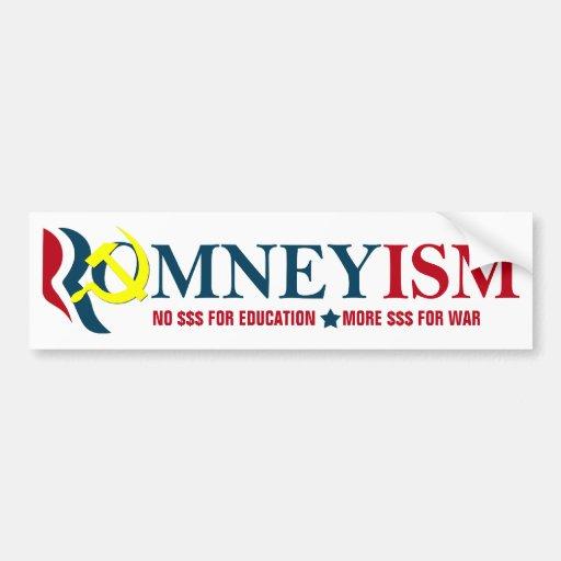 Romneyism / Socialism, Anti-Romney Bumper Sticker