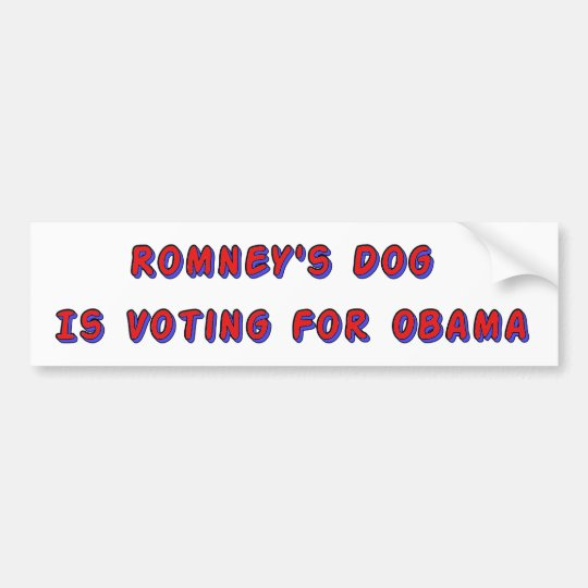 Romney's Dog Bumper Sticker