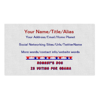 Romney's Dog Business Card Templates