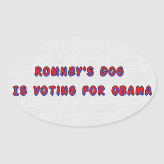 Romney's Dog Oval Sticker