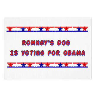 Romney's Dog Personalized Invite
