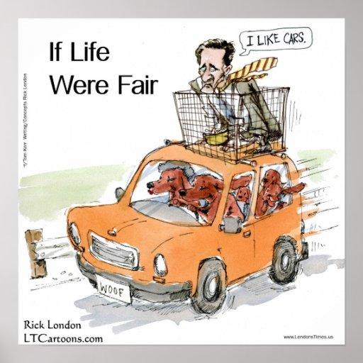 Romney's Irish Setters Funny Rick London Poster