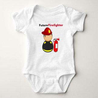 Romper Firefighter. Baby Bodysuit