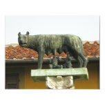 "Romulus and Remus - Ancient Rome 4.25"" X 5.5"" Invitation Card"