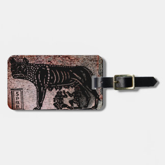 Romulus and Remus Luggage Tags