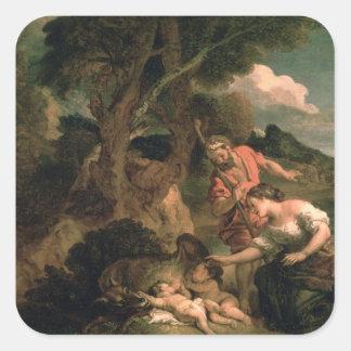 Romulus and Remus Square Sticker