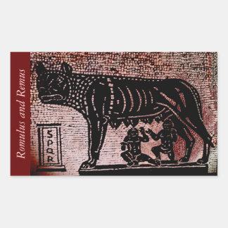 Romulus and Remus Rectangular Sticker