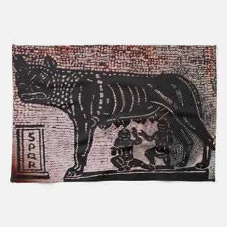 Romulus and Remus Tea Towel