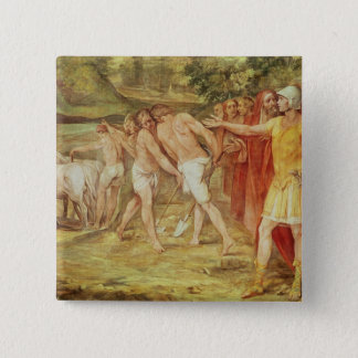 Romulus marking the limits of Rome 15 Cm Square Badge