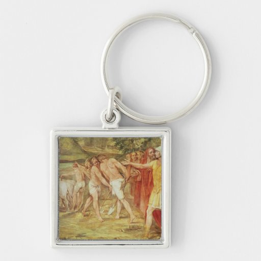 Romulus marking the limits of Rome Keychains