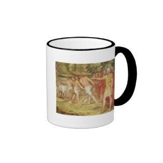 Romulus marking the limits of Rome Mug