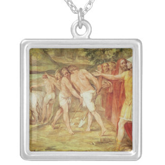 Romulus marking the limits of Rome Silver Plated Necklace