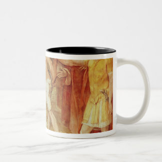Romulus marking the limits of Rome Two-Tone Coffee Mug