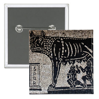 Romulus & Remus 15 Cm Square Badge