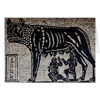 Romulus Remus Greeting Card