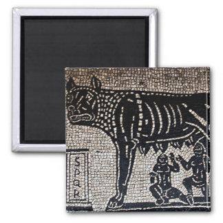 Romulus & Remus Square Magnet