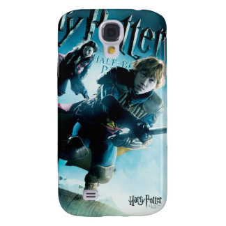 Ron and Ginny On Brooms 1 Galaxy S4 Case