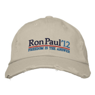Ron Paul '12 Campaign style Hat Embroidered Cap