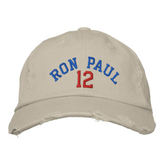 RON PAUL 12 Distressed Chino Twill Cap Baseball Cap