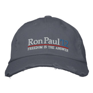 Ron Paul '12 Embroidered Hats