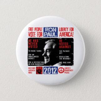Ron Paul 2012 6 Cm Round Badge