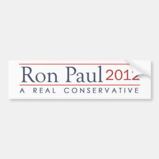 Ron Paul 2012 A real conservative Bumper Sticker