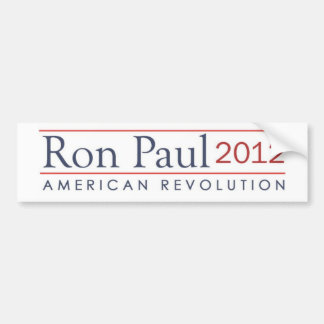 Ron Paul 2012 American Revolution Bumper Sticker