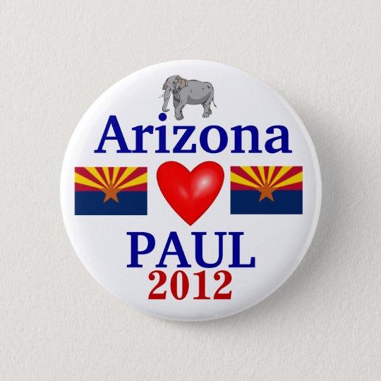 Ron Paul 2012 Arizona 6 Cm Round Badge