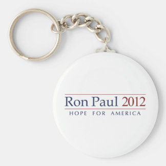 Ron Paul 2012 Basic Round Button Key Ring