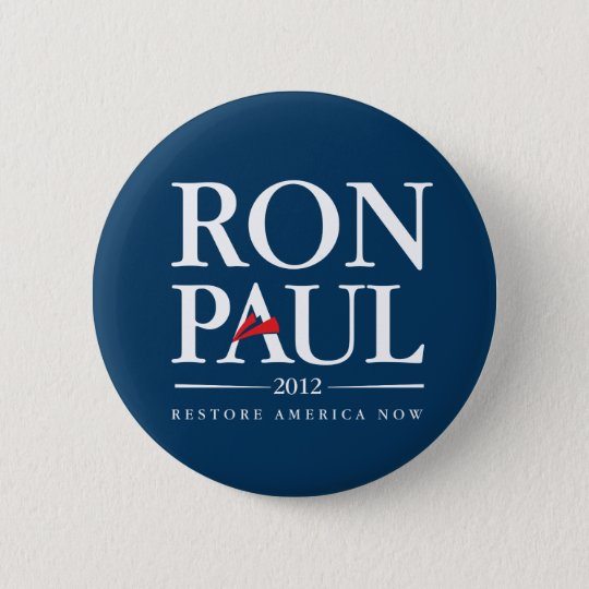 Ron Paul 2012 (Blue) 6 Cm Round Badge