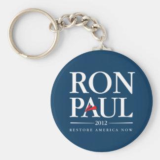 Ron Paul 2012 (Blue) Basic Round Button Key Ring