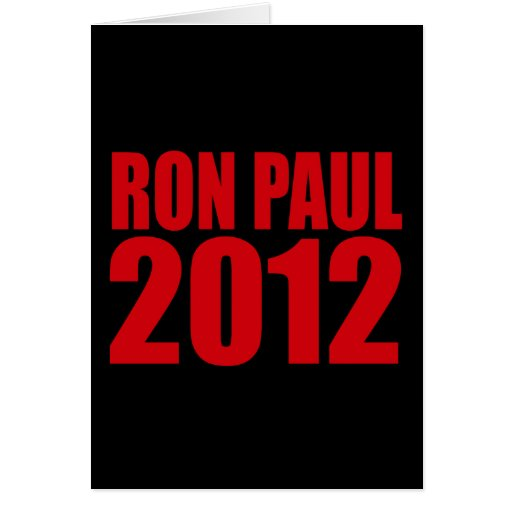 RON PAUL 2012 (Bold) Greeting Cards