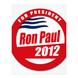 Ron Paul 2012 button Full Color Flyer