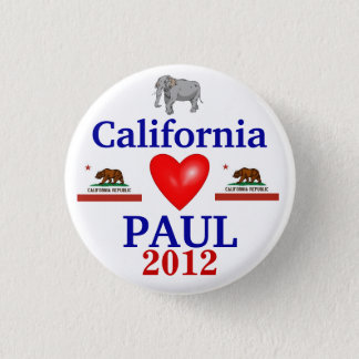 Ron Paul 2012 California 3 Cm Round Badge