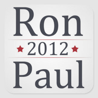 Ron Paul 2012 Campaign Square Sticker