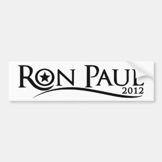 Ron Paul 2012 Curve Bumper Sticker