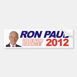 Ron Paul - 2012 election president vote Bumper Stickers