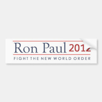 Ron Paul 2012 Fight the New World Order Bumper Sticker