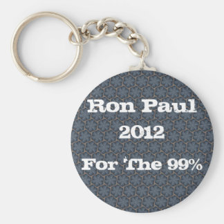 Ron Paul 2012, For The 99%! Basic Round Button Key Ring