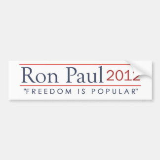 Ron Paul 2012 Freedom is Popular Bumper Sticker