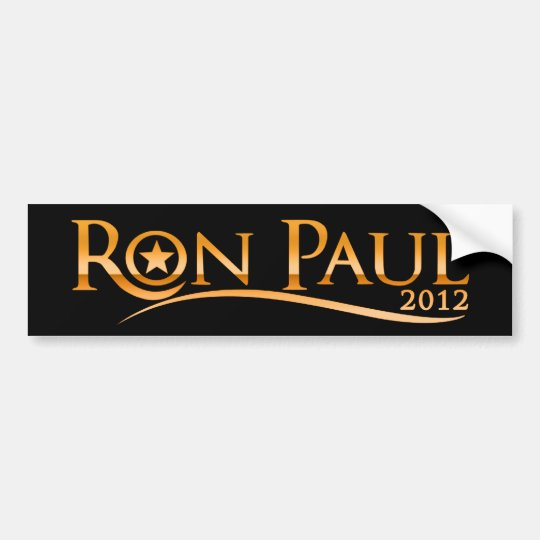Ron Paul 2012 (Golden) Bumper Sticker