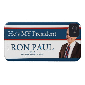 Ron Paul 2012 He's My President iPhone 4 Cover