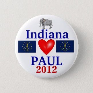 Ron Paul 2012 Indiana 6 Cm Round Badge