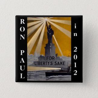 ron paul 2012 liberty 15 cm square badge