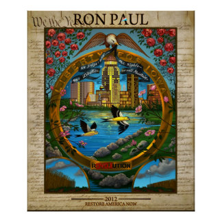 Ron Paul 2012: LIberty for Iowa Poster