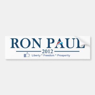 Ron Paul 2012 - Liberty * Freedom * Prosperity Bumper Sticker